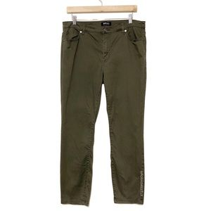 Buffalo David Bitton Army Green Skinny Jeggings